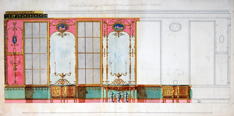 Design For The Window Wall Of The Glass Drawing Room At Northumberland  House, Strand,
